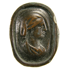 Cameo. Woman's bust