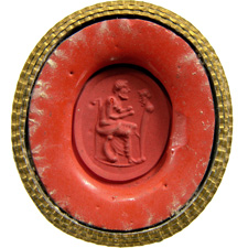 Agate. Man with scroll