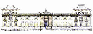 Drawing of Ashmolean facade