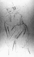 Pencil sketch of Marie by Beazley