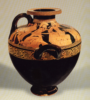 Kleophrades Painter 'Sack of Troy' hydria