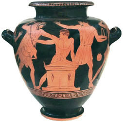 Athenian red-figure stamnos ht. 35.5cm